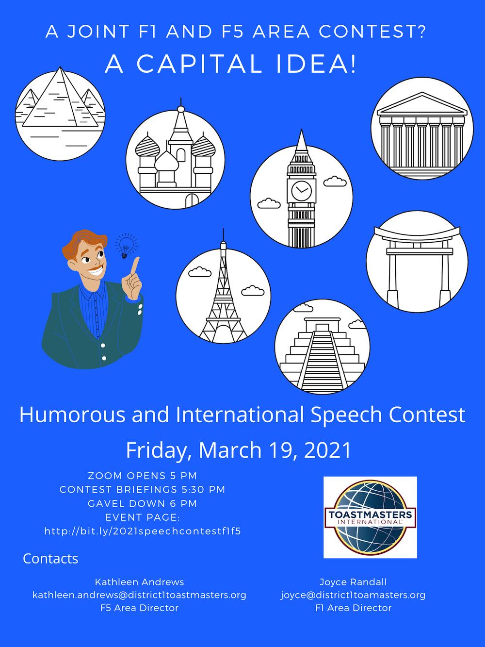Area F1/F5 International Speech Contest
