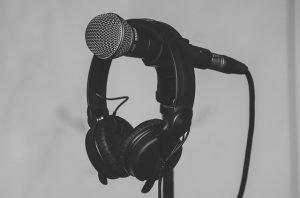 microphone and headphone